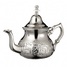 Moroccan Silver Teapot Integrated Filter & Free Handle Cover Engraved  LARGE 800 ml